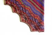 Hand-made knitted shawl — Photo