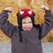 Boy shows power and force — Stock Photo #61940011