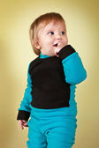 Boy in the blue-black suit — Stockfoto