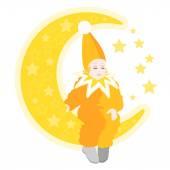 Little sleepy magician — Stockvector