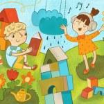 Kids and kinds of creativity — Stock Photo #61002677