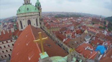 Medieval European church — Stock Video