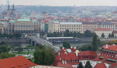 Prague bridge — Stockvideo