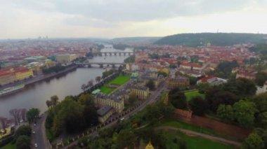 Famous Prague bridges — Vídeo stock