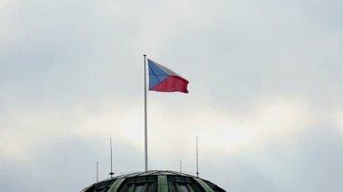 Bandeira da república checa — Vídeo Stock