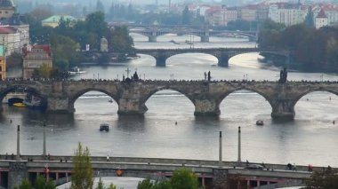 Bridges of Prague — Vídeo de Stock