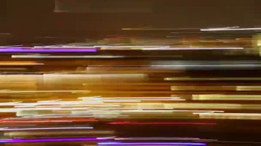 City neon lights — Stock Video