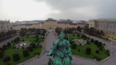 Monument of Maria Theresa — Stock Video