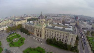Vienna from above air — Stock Video