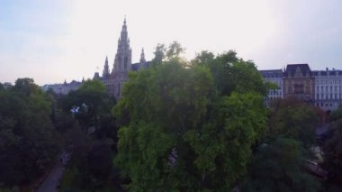 Vienna's aerial shot — Stock Video