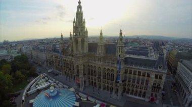 Rathaus mayor residence — Stock Video