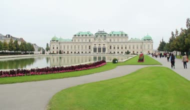Vienna Royal Palace Belvedere — Stock Video