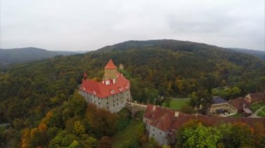 Medieval military castle with prison — Stockvideo
