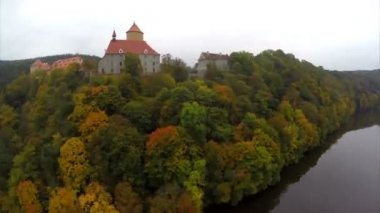 Ancient medieval castle — Stock Video