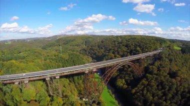 Steel bridge in Germany — Stock Video