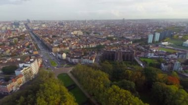 Brussels beautiful city view — Stock Video