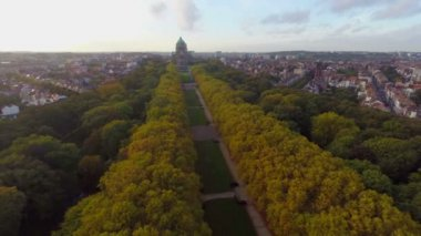 Brussels aerial city view — Stock Video