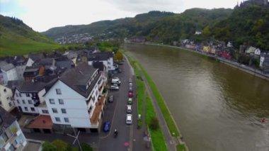 European village aerial — Stock Video
