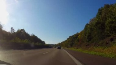 Moving on autobahn — Stock Video