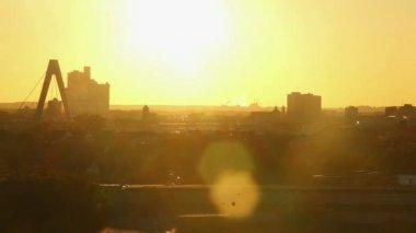 City sunset timelapse — Stock Video
