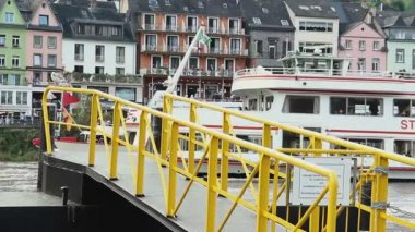 German river transport — Stock Video