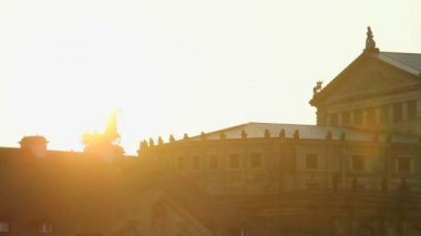 Sunset over Baroque Rococo architecture — Wideo stockowe