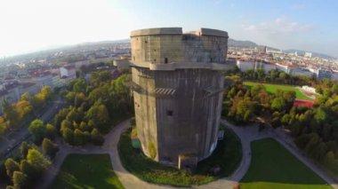 Flak tower in Vienna — Stock Video