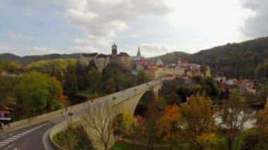 Middle ages castle village — Stock Video