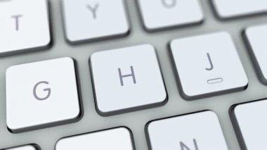 Shutdown Button On Computer Keyboard — Stock Video