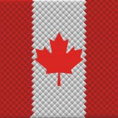 Flag of Canada from the rhombs background — Stock Vector