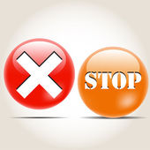 Set of colored icons ban, stop tick — Stock Vector