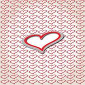 Background of hearts, vector illustration — Stock vektor