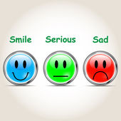 Set icon,smile,sad,serious vector illustration — Stockvector