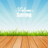 Welcome to Spring background vector illustration — Stock Vector
