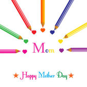 Colorful background for mothers day vector illustration — Stock Vector
