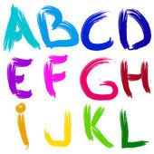 Illustration vectorielle d'alphabet anglais brosse — Vecteur