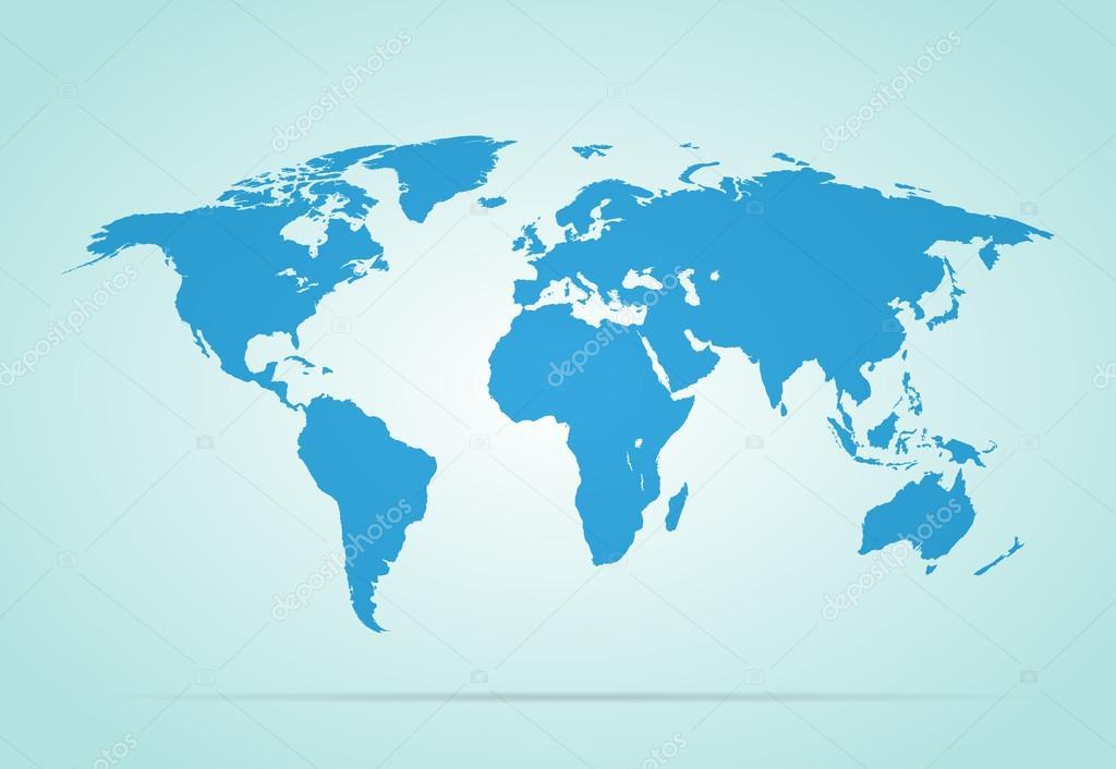 灰色背景时尚世界地图矢量图