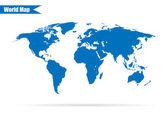 Ilustração em vetor mapa mundo em fundo cinza elegante — Vetor de Stock