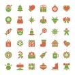Christmas icons vector set decorations objects — Stock Photo #57468845