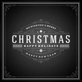 Merry Christmas holidays greeting card vector background — Stock Photo