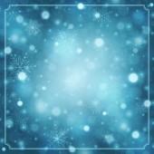 Christmas snowflakes and light background — Φωτογραφία Αρχείου