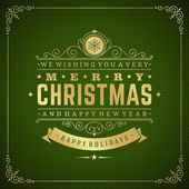 Merry Christmas holidays greeting card vector background — Foto Stock