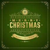 Merry Christmas holidays greeting card vector background — Стоковое фото