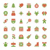 Christmas icons vector set decorations objects — Stock Photo