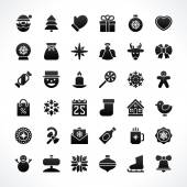Christmas icons vector set — 图库矢量图片