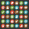 Christmas icons vector set decorations objects — Stock Photo #57509697