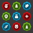 Christmas icons and labels vector set decorations objects — Stock Photo #57509837