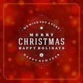 Christmas retro typography and light background — Stock Photo