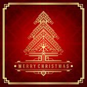 Christmas tree art deco style — Stock Photo