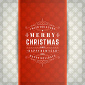 Christmas retro typography and ornament decoration. Merry Christ — Stock Photo